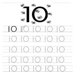 10 Anzahl Studien - Kids-AusmalbilderTV Shape Worksheets For Preschool, Number Worksheets Kindergarten, Kids Math Worksheets, Numbers Preschool, Kindergarten Learning, Learning Numbers, Writing Numbers, Preschool Learning, Tuff Spot