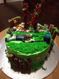 Gardening cake For my husband Royal Icing Transfers, Garden Cakes, Birthday Cake, Husband, Gardening, Templates, Desserts, Food, Tailgate Desserts