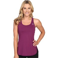 New Balance Accelerate Tunic (Imperial Purple) Women's Sleeveless ($25) ❤ liked on Polyvore featuring tops, tunics, purple, purple sleeveless top, purple top, scoop neck tunic, new balance and sleeveless tunic