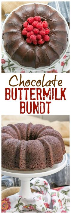 Chocolate Buttermilk Bundt Cake | Easy, rich and delicious!