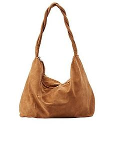 Twisted Strap Slouchy Hobo Bag: Charlotte Russe