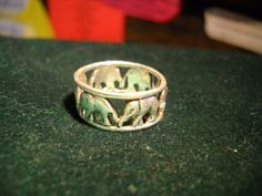 SILVER RING with ELEPHANT Images 925  from by ChristophCreations, $35.00