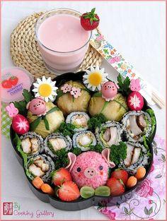 Festive Sushi Bento.