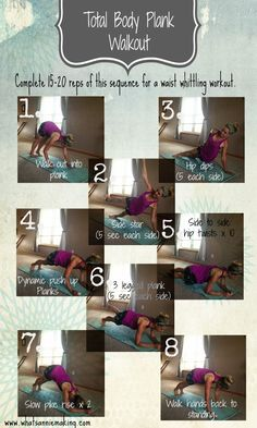 NO EXCUSES Do-Anywhere Workout Roundup - including this plank workout