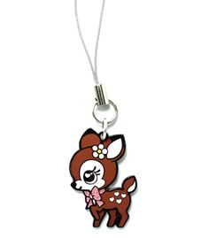 Sweet little darling deer, prancing on fair footsteps into your heart! The bow around the neck has special glitter paint for an extra cute flair! This charm isn