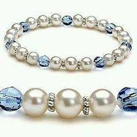 jewelry making bracelets This looks like the perfect ADPi bracelet Bead Jewellery, Wire Jewelry, Jewelry Crafts, Wedding Jewelry, Beaded Jewelry, Jewelry Bracelets, Jewelery, Handmade Jewelry, Pearl Bracelets