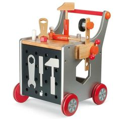 Great gift for kids: wooden workbench cart We love encouraging our kids to step away from the screens, like with these wonderful preschool toys meant for pretend play and imagination. Baby Play, Baby Kids, Toy Art, Preschool Toys, Wooden Gifts, Wooden Diy, Wood Toys, Diy Toys, Children's Toys