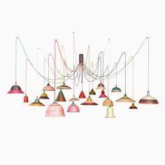 PET Lamp Chandelier by Alvaro Catalán de Ocón for sale at Pamono Shop Lighting, Pendant Lighting, Lighting Design, Chandelier, Ceiling Lamp, Ceiling Lights, Vintage Lampshades, Diy Luminaire, Rustic Lamp Shades