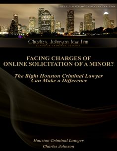 Facing Charges of Online Solicitation of a Minor? The Right Houston Criminal Lawyer Can Make a Difference When you have been charged with a severe legal offense, it is very important to understand your rights and defense options. An experienced Houston Criminal Lawyer can help you decide what steps you need to take next. Contact us for a free consultation today at 713-222-7577 anytime, night or day if you have been falsely accused of soliciting a minor online.