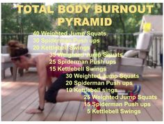 Total Body a Pyramid Workout Fit Board Workouts, Easy Workouts, Hiit, Pyramid Workout, Wod Workout, Conditioning Workouts, High Intensity Interval Training, Stay In Shape, I Work Out
