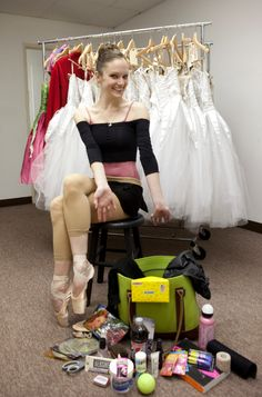 Inside L.A. Ballet principal Allynne Noelle's dance bag. Photo by Rose Eichenbaum.
