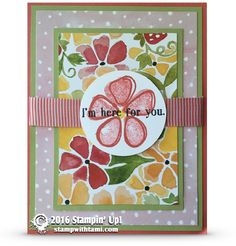 CARD: I'm here for you from the Fresh Fruit set | Stamp With Tami | Bloglovin'