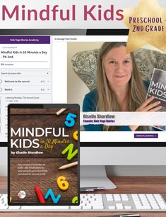 Mindful Kids in 10 Minutes a Day: Preschool-2nd (Workbook + Video Series) Teaching Kids Mindfulness, Mindfulness Activities, Activities To Do, Physical Activities, Fun Brain, Mindfulness Exercises, Play N Go, Engagement Cards, Yoga For Kids