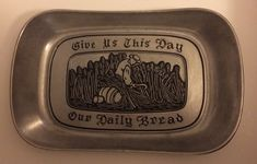 Wilton Armetale Serveware Cook Chill Grill Serve Platte Bread Dish Prayer Design  | eBay