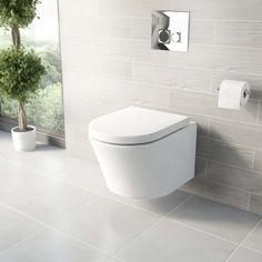 Arc Wall Hung Toilet Inc Seat PLUS Pushfit Valve