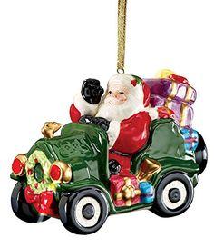 Led Christmas Musical Santa Car Ornament. #Christmas #NewYear #Ornament #Decor #giftidea #Gift #gosstudio .★ We recommend Gift Shop: http://www.zazzle.com/vintagestylestudio ★