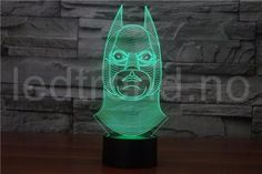 Collector's Item: Batman LED Lamp Collections Fantastically unique items for true fans and makes a great gift. Lights up in just one color or cycles Batman Lamp, Cheap Lamps, Christmas Information, Touch Lamp, Novelty Gifts, Save Energy, Kids Room, Folk, Night Lights
