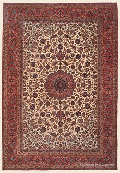 "ISFAHAN,   11' 6"" x 16' 9"" — Circa 1930 — Price: $21,000, Central Persian Antique Rug - Claremont Rug Company  Click to learn more about this rug."