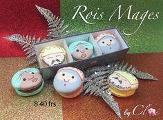 Macarons Rois Mages, saveurs yuzu, tonka, mandarine Christmas Ideas, Christmas Ornaments, Macarons, Collections, Holiday Decor, Home Decor, Noel, Decoration Home, Room Decor
