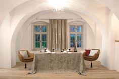 """Leinentischwäsche mit Opulentem Jacquard Muster """"Leitner Imperial Jacquard"""", in 13 Farbvarianten von Leitner Leinen Home Decor, Decor, Curtains"""