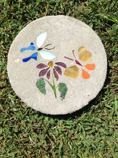 Your place to buy and sell all things handmade Mosaic Stepping Stones, Concrete Stone, Garden Stones, Stained Glass, Butterflies, Rocks, Kids Rugs, Gardening, Outdoor Decor