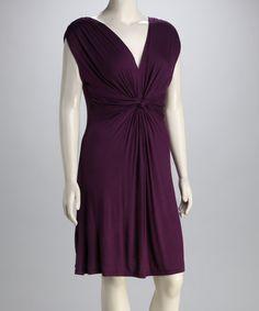 Another great find on #zulily! Purple Knot V-Neck Dress  - Plus #zulilyfinds