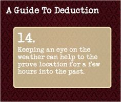 A Guide To Deduction 14.