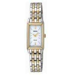 rectangular watch women two tone - Google Search