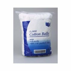Cotton Balls Bag of 1000 by Graham Field. $24.65. LargeNon-sterile100% USP purified cotton