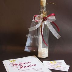 Invitaciones en botellas para casamiento. Bottles for wedding invitations