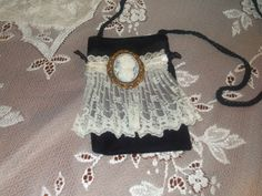 Off white antique lace with child cameo by LadyIsabellasAngel