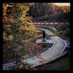 Semper Fidelis Memorial Park stretches through a mile of the Virginia woods providing a place to reflect on the service and sacrifice of our Nation's heroes. The concrete walkway is handicap accessible, lined with inscribed bricks, and currently dressed in the colors of Autumn. It is also located on the original King's highway that dates back to the American Revolution.  Semper Fidelis #NMMC #USMC #USN #Museum #memorial #Semperfi #USMCmuseum #Quantico #Virginia #Marines