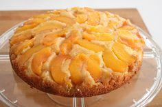 Summertime Peach Upside-Down Almond Cake