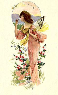 Victorian Fairy Postcard
