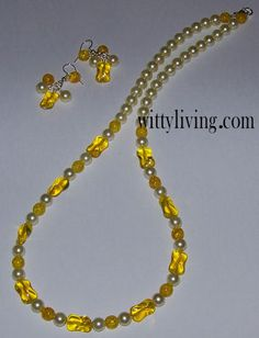 sunshine beaded necklace project