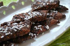 Chokladsnittar med kokos