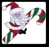 stained glass santa - Google Search
