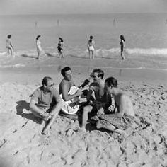 It's good to be in Florida, just singing on the beach. 1947.