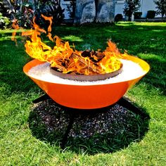 Steel fire pit for awesome outdoor adventures involving fire and fun.