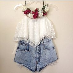 fashion summer flower outfit