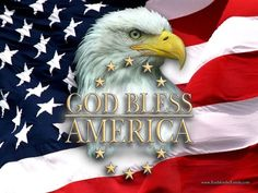 God Bless America::The American Flag and the American Bald Eagle - enduring symbols of Freedom. I Love America, God Bless America, America America, America Cake, America Sign, Happy 4 Of July, Fourth Of July, American Pride, American Flag