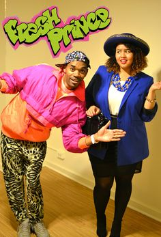Will and Hilary Banks! The Fresh Prince of Bel-Air Halloween costumes. Obviously not a costume I need to be wearing. But it's still super awesome