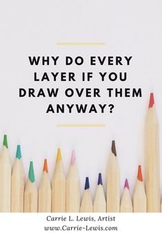 Color Pencil Drawing Tutorial - Here's a question for you colored pencil enthusiasts out there. Why do every layer if you draw over them anyway? Wouldn't it be better (and faster) to just draw one or two layers and be done with it? Watercolor Pencils Techniques, Watercolor Pencil Art, Pencil Painting, Watercolor Cards, Colored Pencil Tutorial, Colored Pencil Techniques, Pencil Drawing Tutorials, Pencil Drawings, Pencil Sketching