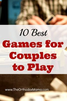 Do you ever struggle to find a two-player game that you can do as a couple?  These 10 games are perfect for a date night!  A mixture of strategy and silliness, indoor and outdoor--something for everyone!