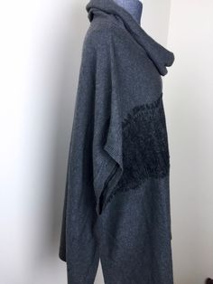 Colourworks Gerda Lace Detail Pullover Poncho side