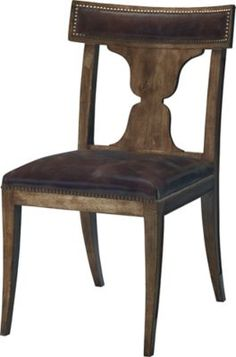 Some things are classics, and a rare few are standards. This chair is a standard, the first option against which others are measured. The neoclassical lines are simple, swept back, and refined.