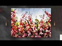 ART flowers painting for beginners NO SKILLS NEEDED FOR THIS Completely easy Ideas on canvas - YouTube Acrylic Painting Tutorials, Painted Cakes, Art Flowers, Lovers Art, Cake Painting, Canvas, Easy, Youtube, Crafts