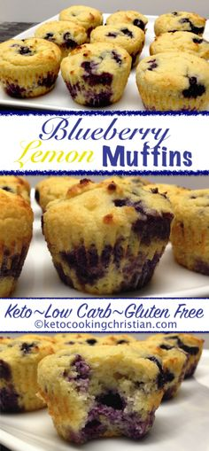 Keto Blueberry Lemon Muffins w/info re oat fiber Keto Blueberry Muffins, Gluten Free Blueberry, Lemon Muffins, Blue Berry Muffins, Oat Flour Muffins, Lemon Loaf, Oat Pancakes, Low Carb Dinner Recipes, Low Carb Desserts