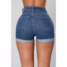 I'm Cuffed Shorts- Medium Wash ($15) ❤ liked on Polyvore featuring shorts, cuffed shorts and cuff shorts