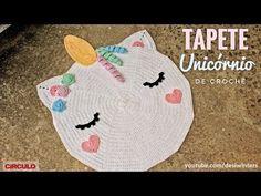Tapete Unicórnio de #crochê - Artes da Desi - YouTube